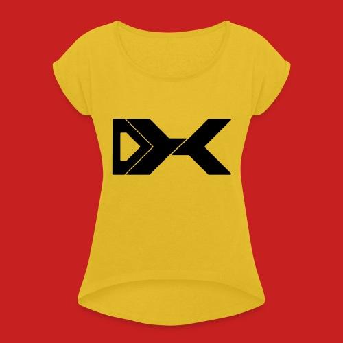 Duxier Logo - Vrouwen T-shirt met opgerolde mouwen