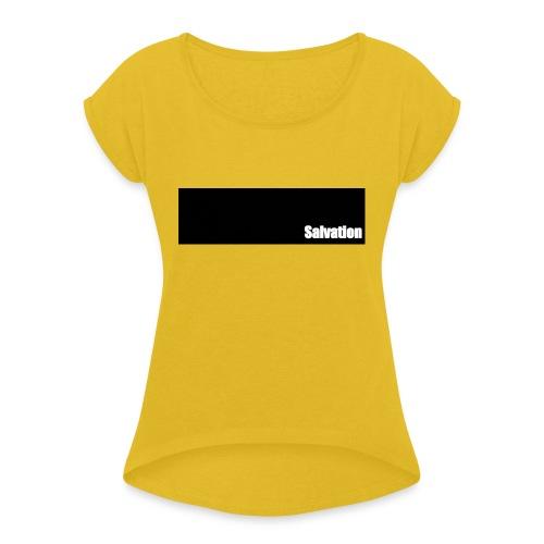 Salvation - Frauen T-Shirt mit gerollten Ärmeln