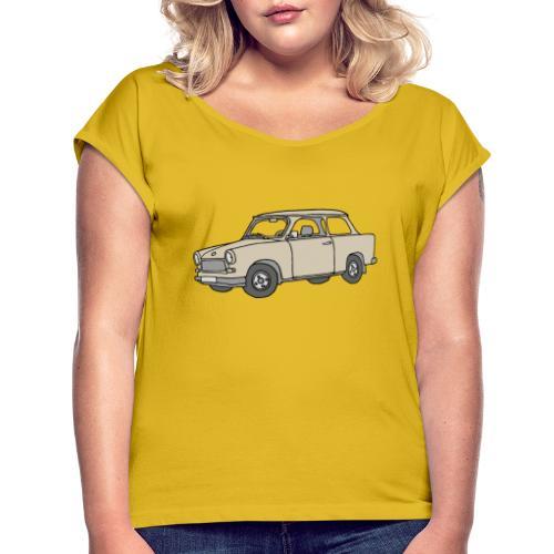 Trabi, Trabant (papyrus) - Frauen T-Shirt mit gerollten Ärmeln