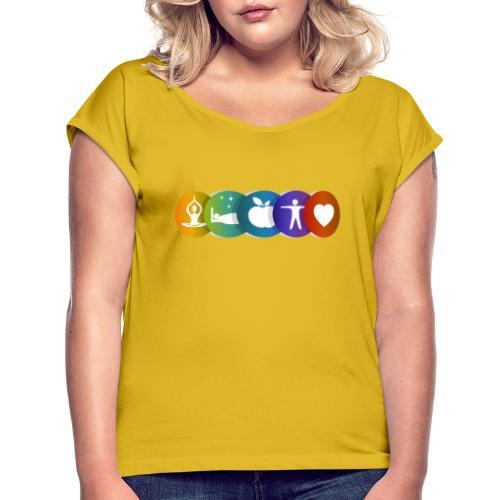 Salud & Bienestar - Camiseta con manga enrollada mujer