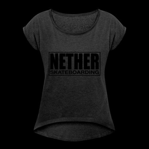 Nether Skateboarding T-shirt White - Maglietta da donna con risvolti