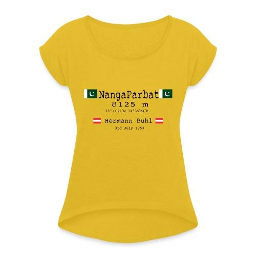 NangaPArbat20-01Black - Maglietta da donna con risvolti