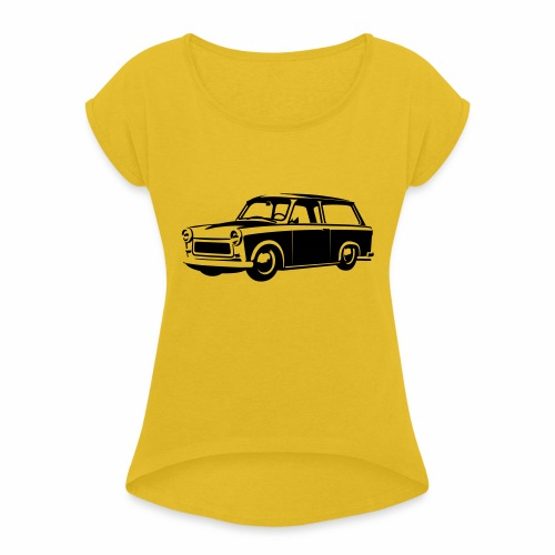 Trabant 601 Kombi Tuning - Women's T-Shirt with rolled up sleeves