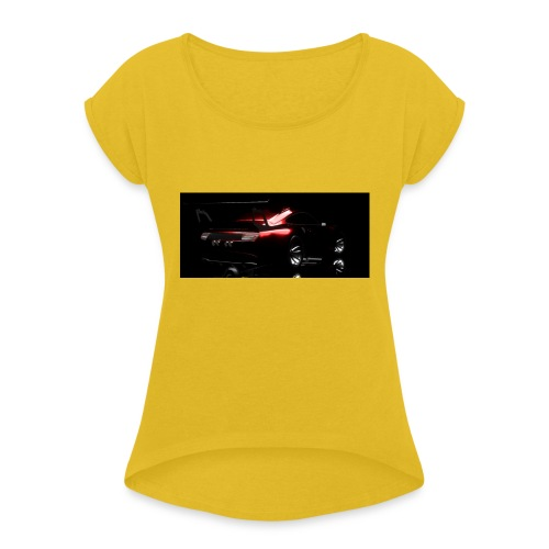 KMI inferno back - Women's T-Shirt with rolled up sleeves
