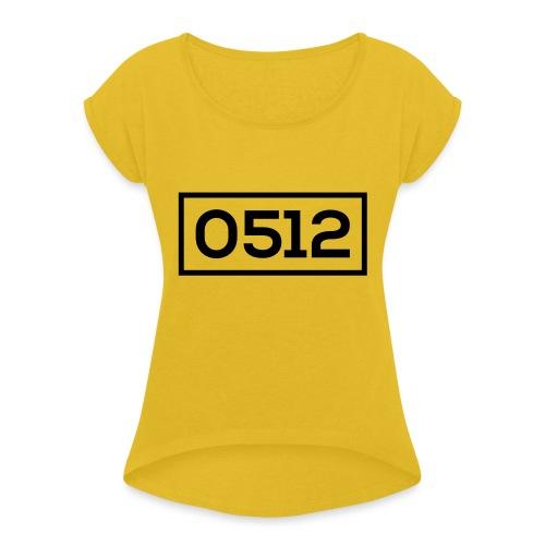 0512 - Vrouwen T-shirt met opgerolde mouwen