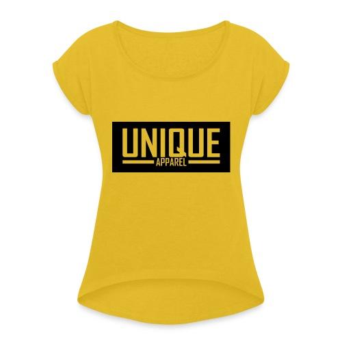 unique - Frauen T-Shirt mit gerollten Ärmeln