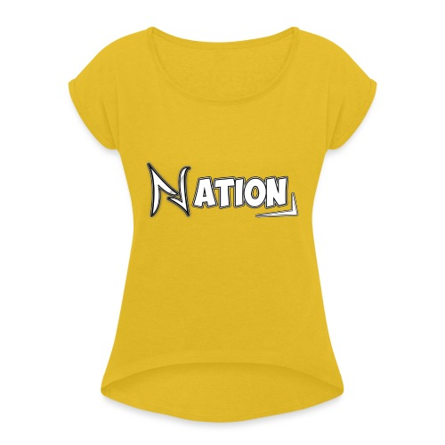Nation Logo Design - Women's T-Shirt with rolled up sleeves