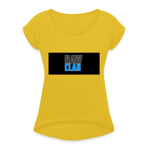 TSHIRT_LOGO - Women's T-Shirt with rolled up sleeves