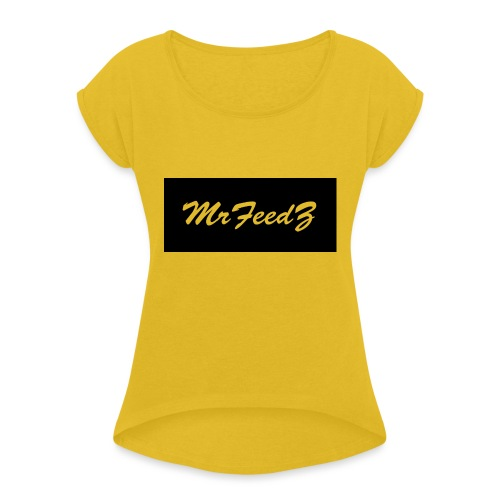 Apparel_design2 - Women's T-Shirt with rolled up sleeves