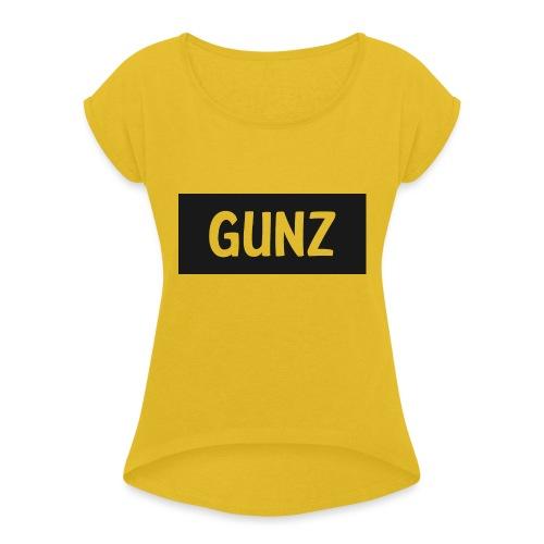 Gunz - Dame T-shirt med rulleærmer