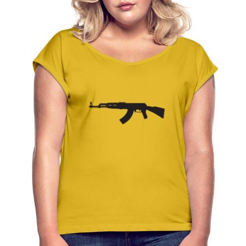 AK47 - Frauen T-Shirt mit gerollten Ärmeln
