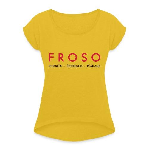 froso 2 - T-shirt med upprullade ärmar dam