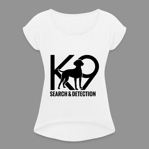 K-9 German Shorthaired Pointer - Women's T-Shirt with rolled up sleeves