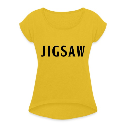 JigSaw Black - Women's T-Shirt with rolled up sleeves