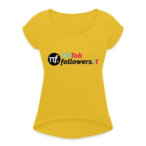 ttfollowers logo - Maglietta da donna con risvolti