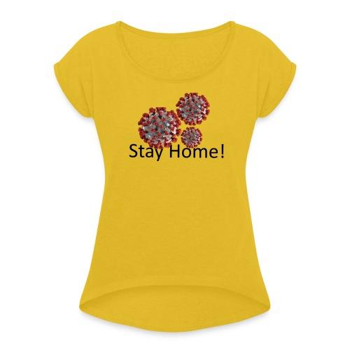 Corona - Frauen T-Shirt mit gerollten Ärmeln