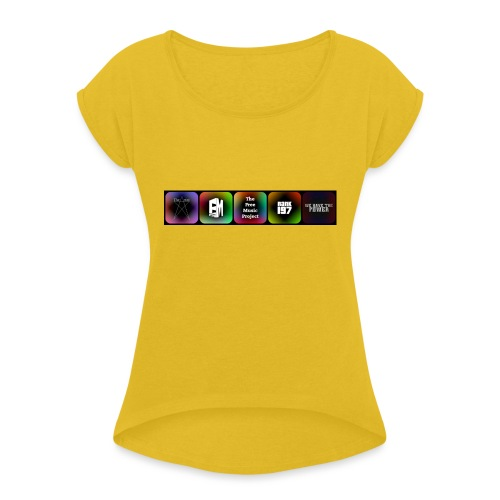 5 Logos - Women's T-Shirt with rolled up sleeves