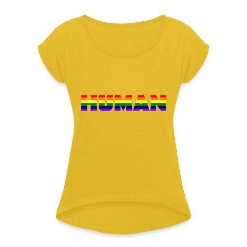 Human 20.1 - Frauen T-Shirt mit gerollten Ärmeln