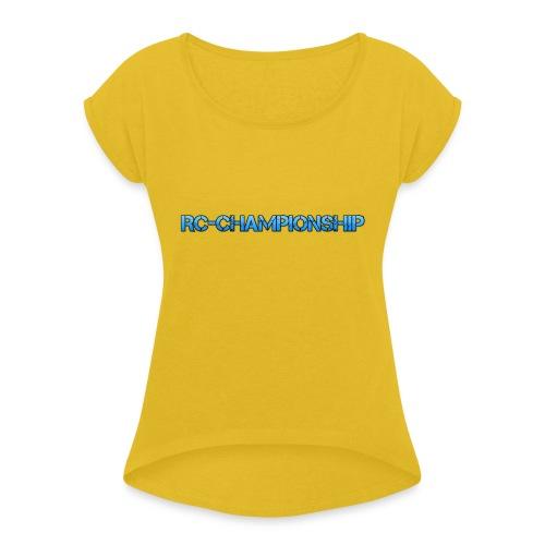 Sponsor - T-shirt med upprullade ärmar dam