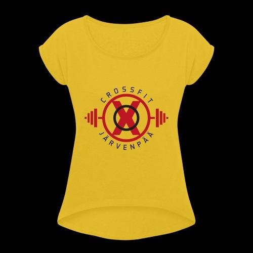 Crossfit Järvenpää - Naisten T-paita, jossa rullatut hihat