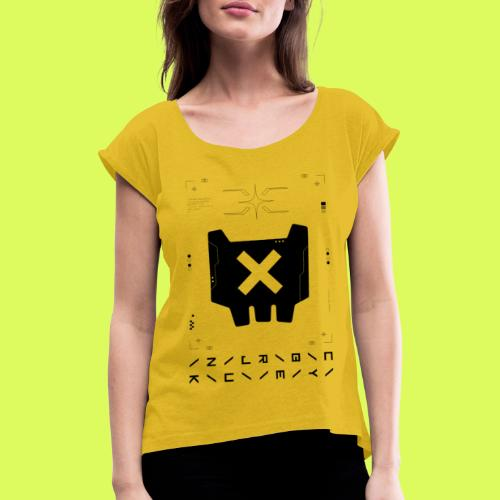 DVRKNTWRX - Women's T-Shirt with rolled up sleeves