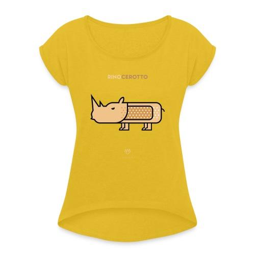 Rinocerotto - Maglietta da donna con risvolti