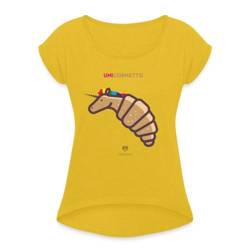 Unicornetto - Maglietta da donna con risvolti