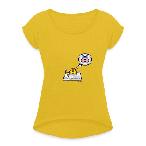 Loveletter - Boy - Frauen T-Shirt mit gerollten Ärmeln