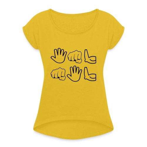 De Leyaro - Vrouwen T-shirt met opgerolde mouwen