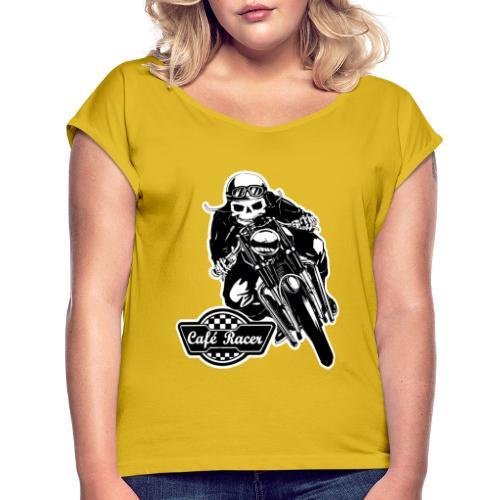 Café Racer - Camiseta con manga enrollada mujer