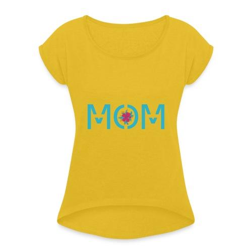 MOM - T-shirt à manches retroussées Femme