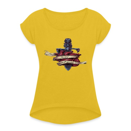 Untitled-3 - Women's T-Shirt with rolled up sleeves