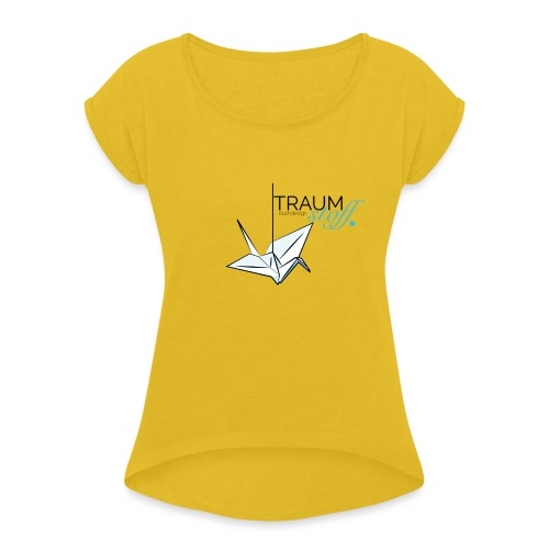 Traumstoff Logo - Frauen T-Shirt mit gerollten Ärmeln