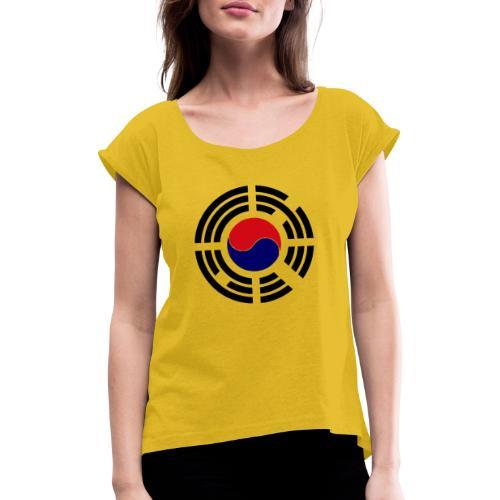 Korea - Frauen T-Shirt mit gerollten Ärmeln