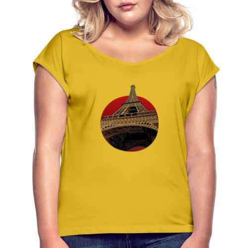 Tower circle red - T-shirt à manches retroussées Femme