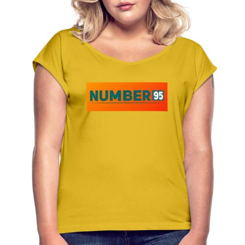 Number 95 - Farbenspiel - Frauen T-Shirt mit gerollten Ärmeln