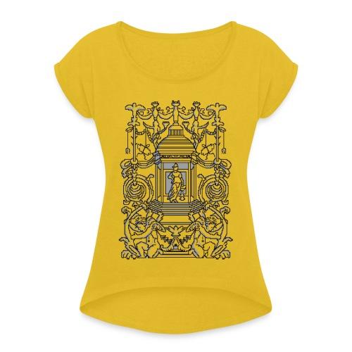 Ornament pixel art - Maglietta da donna con risvolti