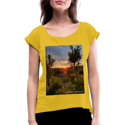 SCD02 - Frauen T-Shirt mit gerollten Ärmeln
