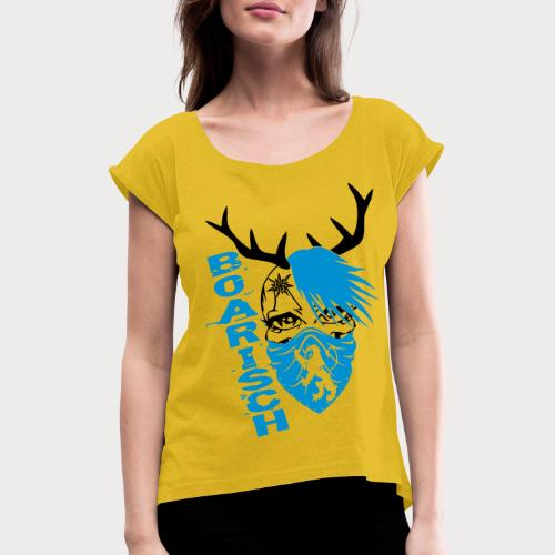 Bayern Madl - Frauen T-Shirt mit gerollten Ärmeln
