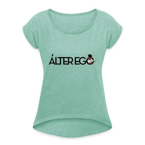 ÁLTER EGO - Camiseta con manga enrollada mujer