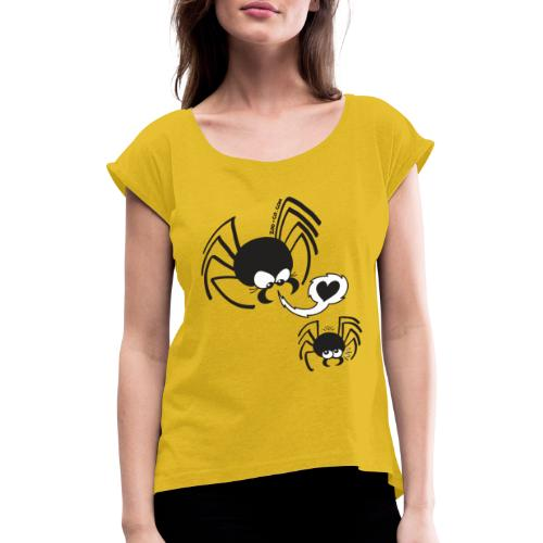 Dangerous Spider Love - Women's T-Shirt with rolled up sleeves