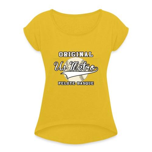 origiinalUSMETRO2 png - T-shirt à manches retroussées Femme