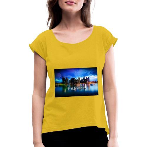 Panamá - Camiseta con manga enrollada mujer