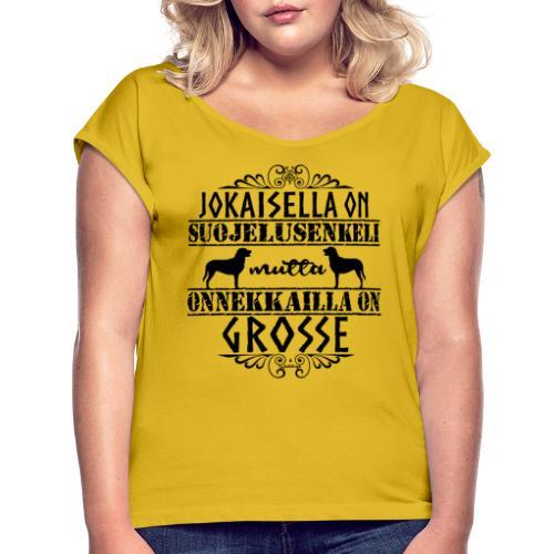 Grosse Enkeli M - Naisten T-paita, jossa rullatut hihat