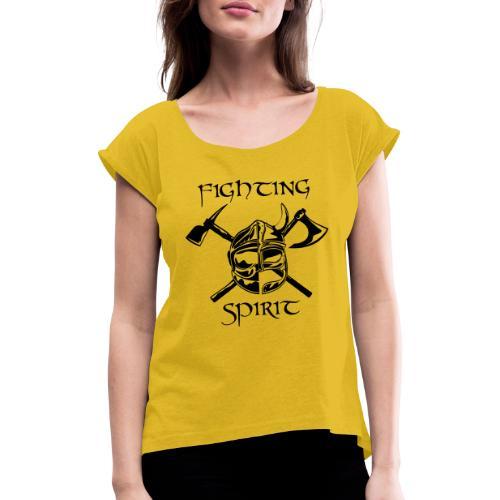 casque pompier fighting spirit - T-shirt à manches retroussées Femme