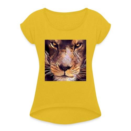 leon - Camiseta con manga enrollada mujer