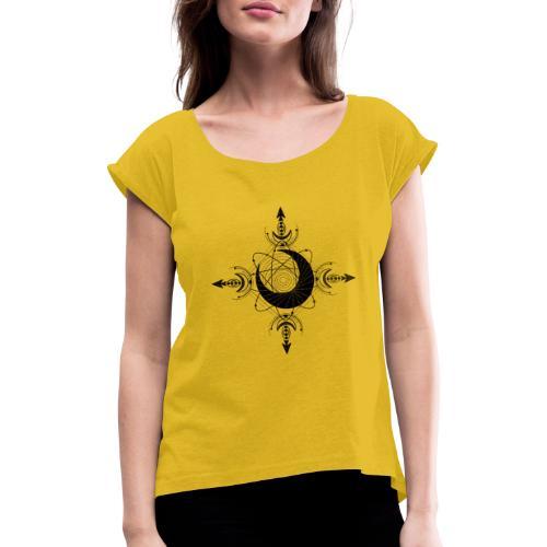 KraftSymbol 6. Rauhnacht - Frauen T-Shirt mit gerollten Ärmeln