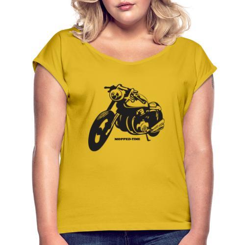 Mopped - Frauen T-Shirt mit gerollten Ärmeln