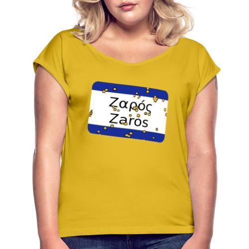 mg zaros - Frauen T-Shirt mit gerollten Ärmeln
