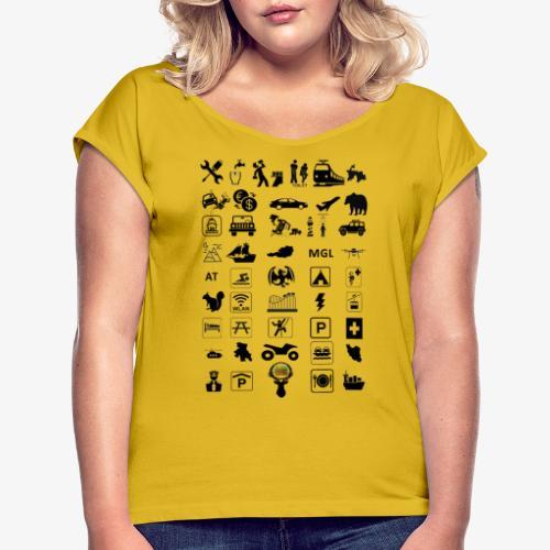 Where should I go now? - Frauen T-Shirt mit gerollten Ärmeln